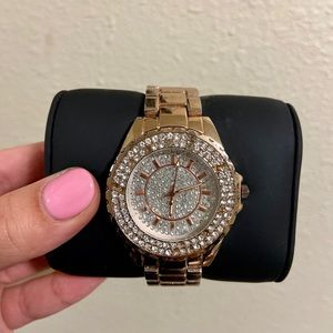 Women's Rose Gold Accessory Watch.